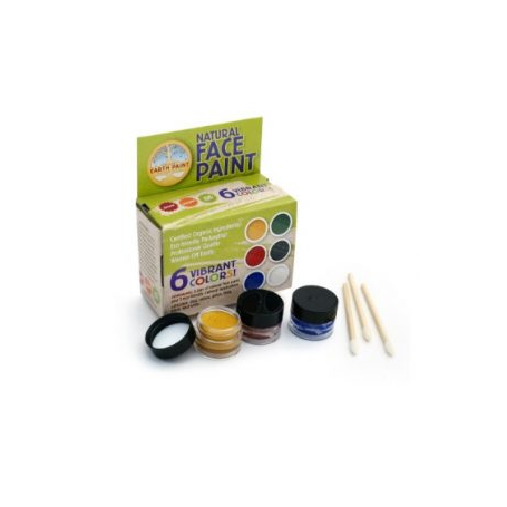 Kit Maquillage 6 Pots Natural Face Paint Soins Corps Et Cheveux Natural Earth Paint Nfp6 Bebeluga
