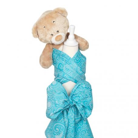 Echarpe de portage porte-poupée Masala Turquoise pour enfant ... d30c8f8df85