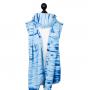 Echarpe de portage porte-poupée Persian Paisley Batik Bleu pour enfant