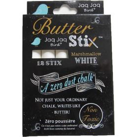 Boite de 12 craies ButterStix Blanches Jaq Jaq Bird