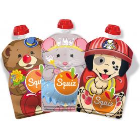 Pack de 3 gourdes Squiz Smile réutilisables