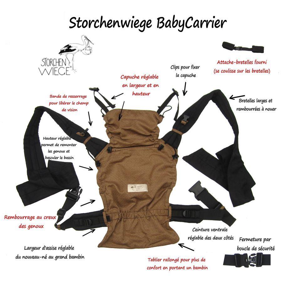Le porte-bébé Storchenwiege BabyCarrier est fabriqué à partir du tissu  Storchenwiege élastique en diagonale, tissage en armature croisée (sergé  croisé) ou ... 4cc295a68bb