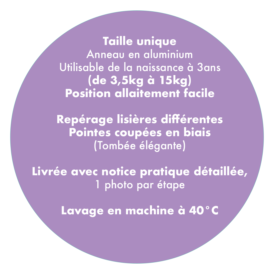 Guide des tailles My Sling Néobulle